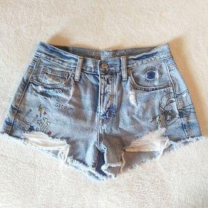 American Eagle vintage high rise shorts